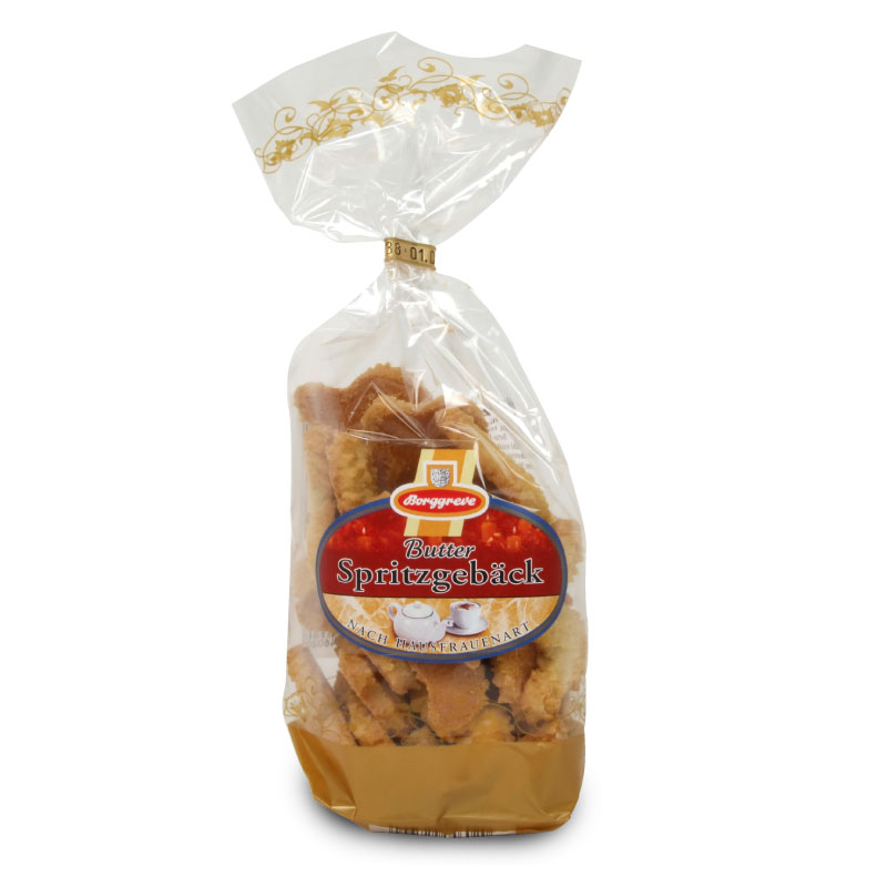 Butter Spritzgebäck - Butter Cookies - Product of Borggreve - Shortbread biscuits, butter biscuits
